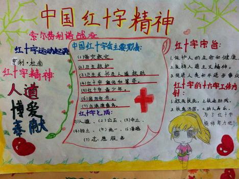 红十字手抄报:中国红十字精神