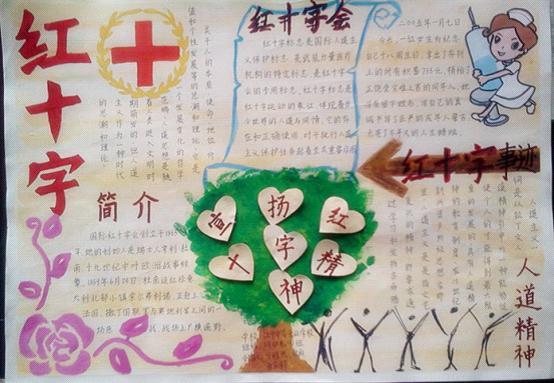 我急需关于红十字会预防疾病手抄报的文字资料,插图,边框图片
