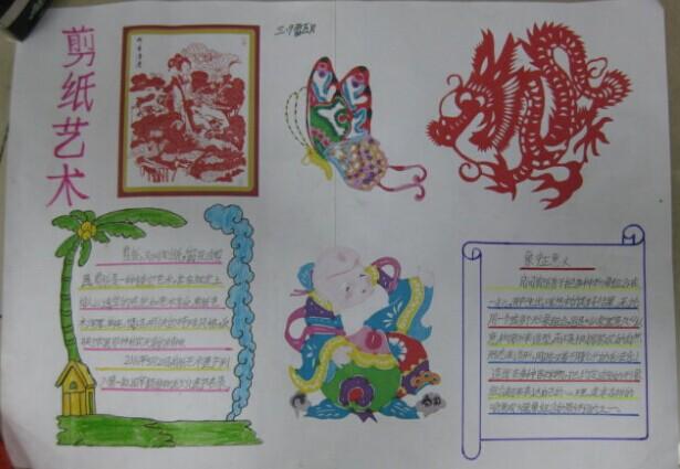 传统文化手抄报:剪纸艺术