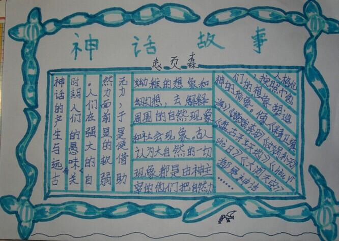 传统文化手抄报图片