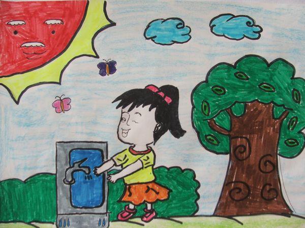 文明小学生手绘画