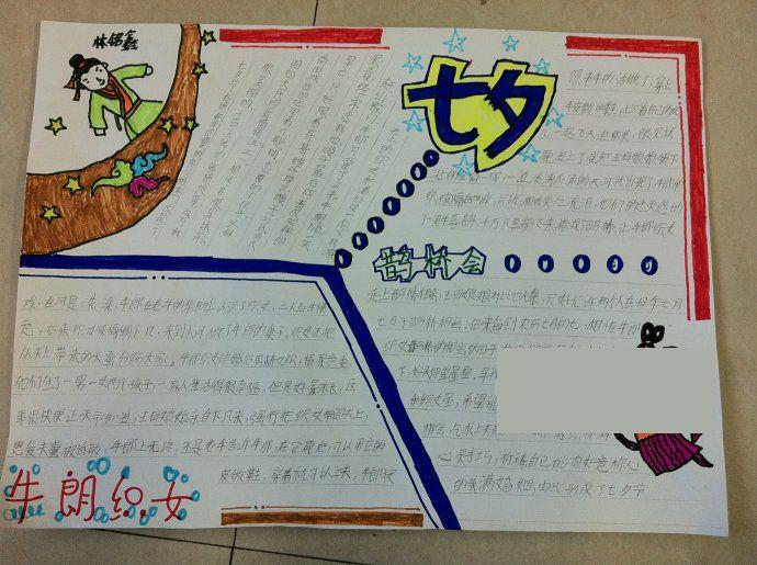七夕节手抄报图片