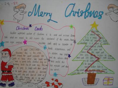 圣诞节英文手抄报:Chriestmas Cards