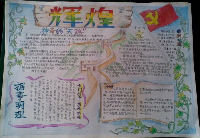 关于改革开放的手抄报_改革开放40周年手抄报
