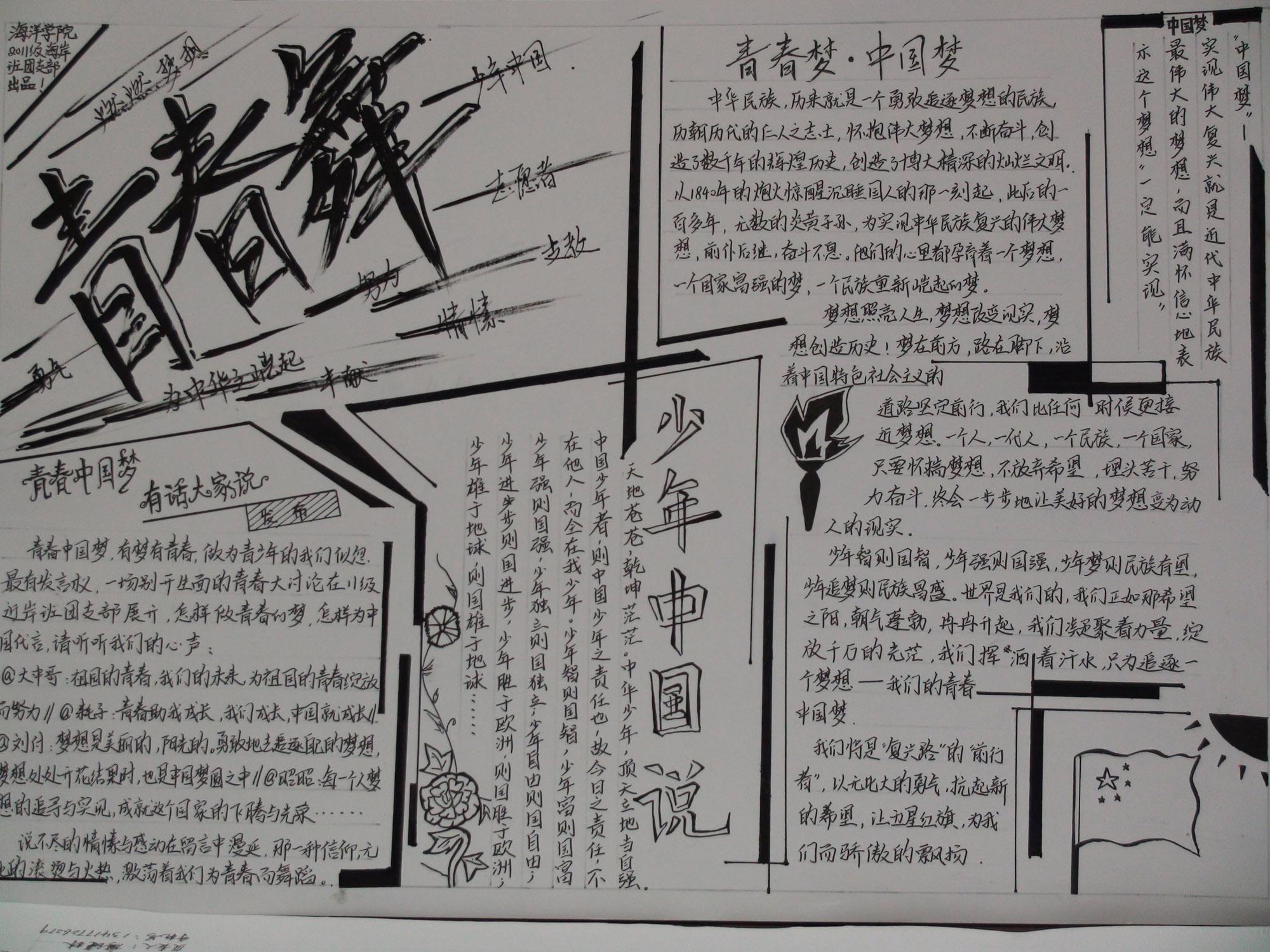 以青春为主题的黑板报 以青春为主题的手抄报关于图片