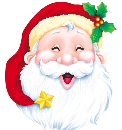 图片大全-圣诞节老人卡通图片-最简单的一幅圣诞节画-圣诞节装饰图片