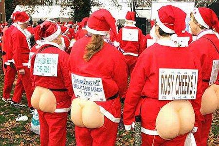 恶搞圣诞老人图片