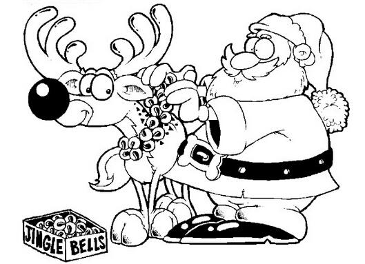 圣诞节图片:圣诞老人简笔画(2)-圣诞节礼品锥形圣诞帽
