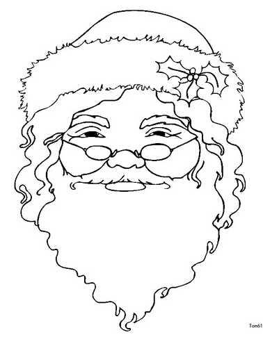 圣诞节图片:圣诞老人简笔画(2)
