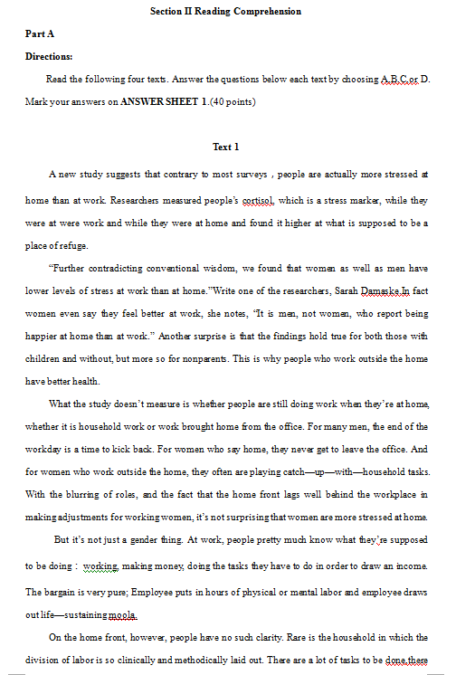 2015考研英语二阅读真题完整版