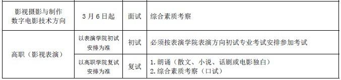 2015年北京电影学院本科,高职招生简章图片