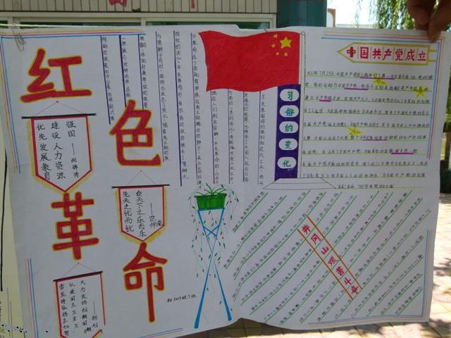 红色教育手抄报资料:红色革命