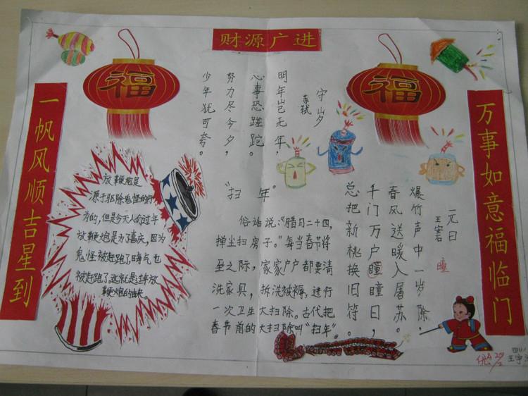 春节的来历手抄报内容图片