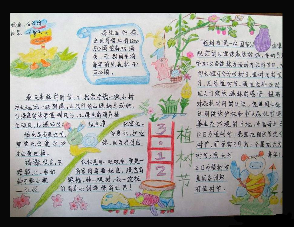 植树节手抄报图片 3 12植树节图片