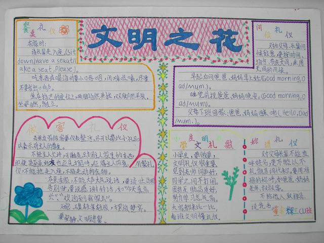 文明礼仪手抄报资料:校园文明礼仪文章_英语网