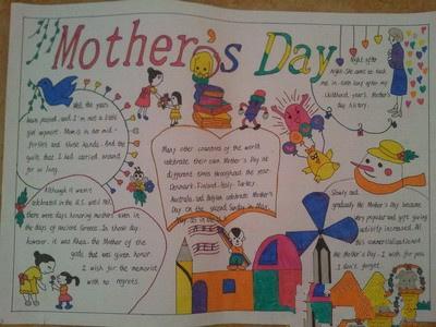 母亲节英语手抄报图片:mom