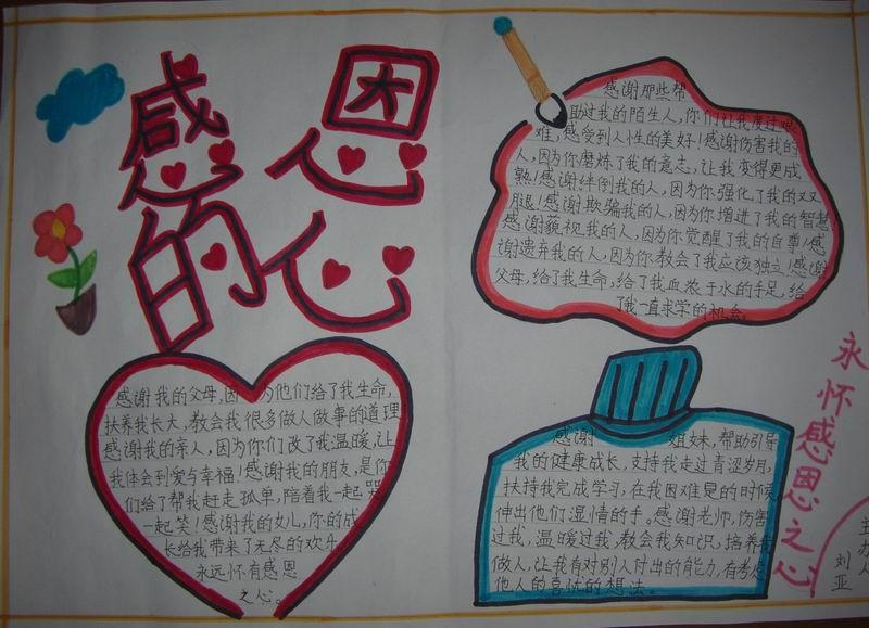 中华母亲节手抄报图片:感恩的心
