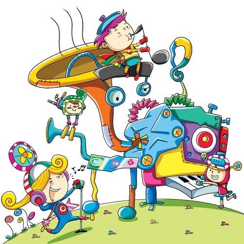 幼儿插画图片大全-简易粘贴画 幼儿粘贴画 幼儿园插画 儿童插画水彩