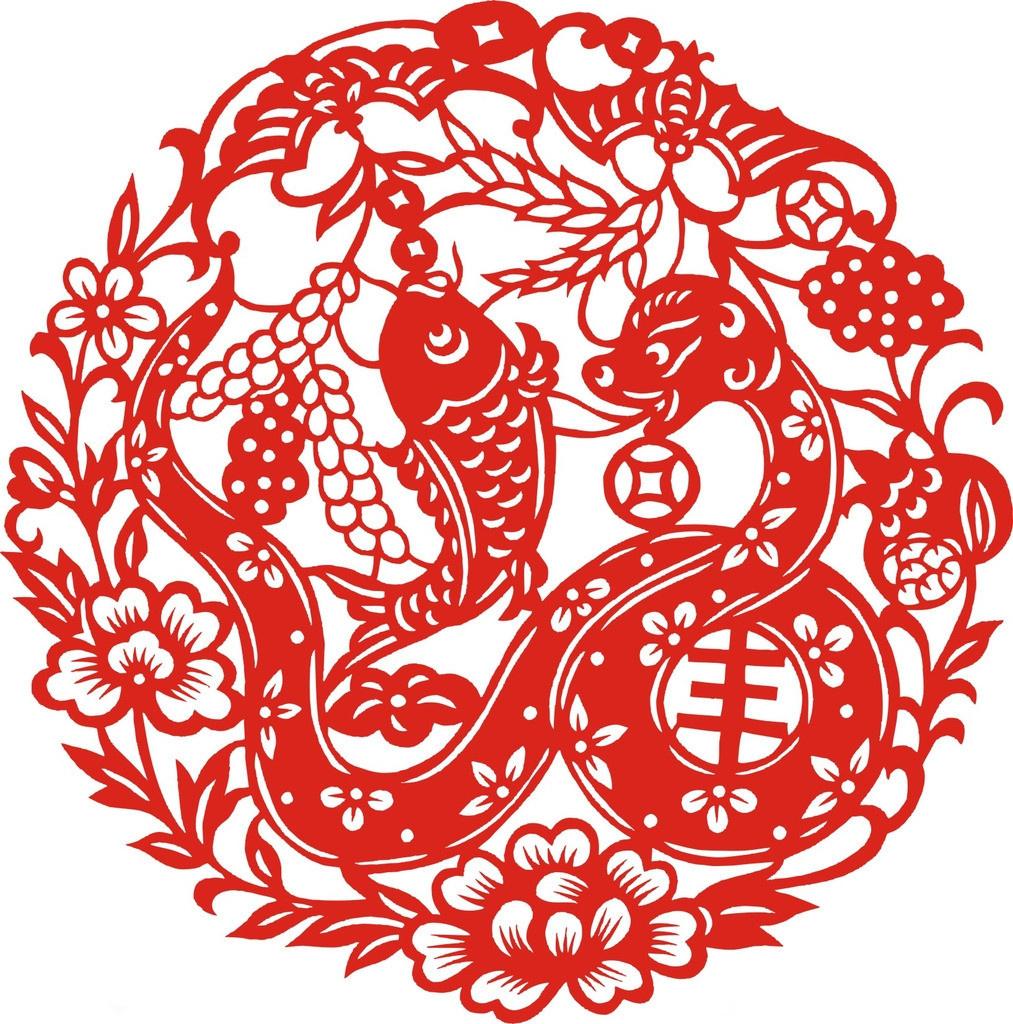 春节图片:春节剪纸