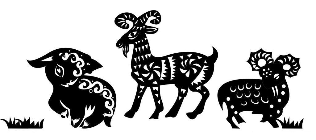 羊年春节精美图片:精美剪纸