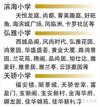 2015深圳宝安新增8所学校纳入学位房制