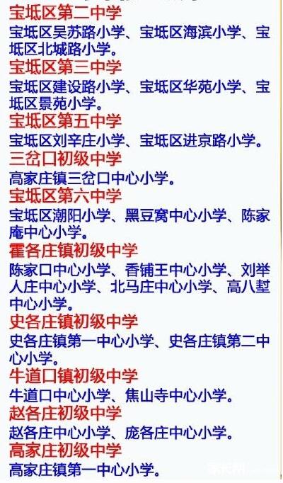 2015天津宝坻区小升初就近入学实施办法