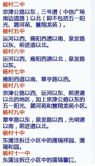 2015天津武清区小升初就近入学实施办法