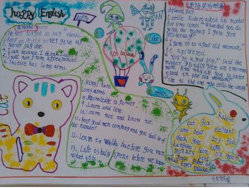 小学六年级暑假英语手抄报_语法_奥数网
