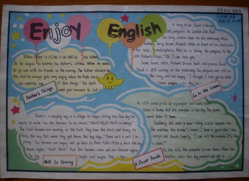 暑假三年级英语手抄报内容高清图片