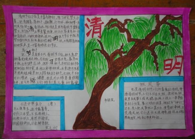 清明节手抄报:中国的孝道