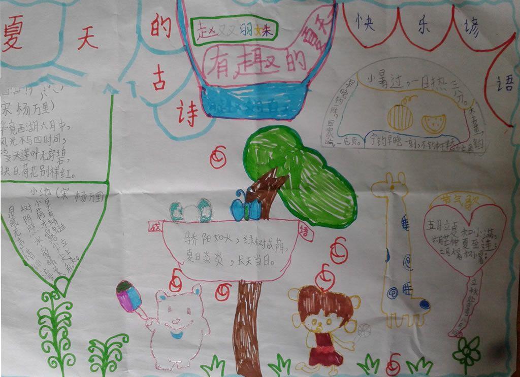 小学生夏天手抄报图片:有趣的夏天