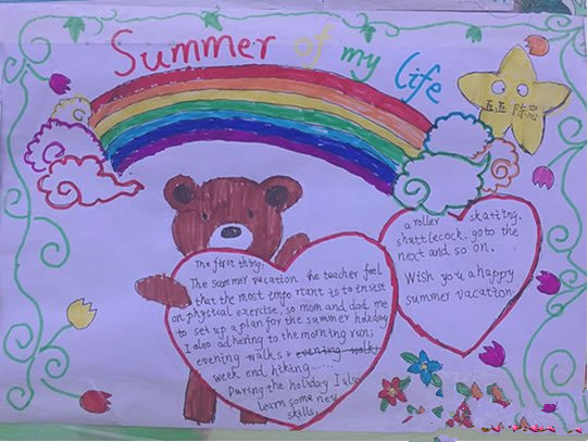 二年级夏天手抄报内容:夏天相关物候