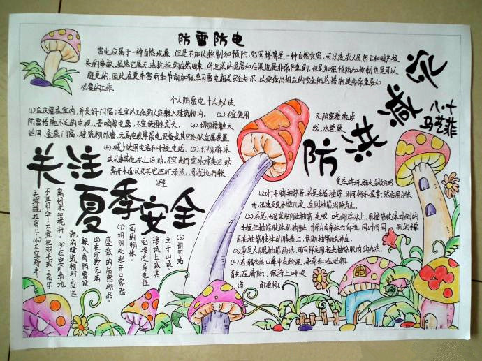 关于夏天的手抄报-中国传统浪花纹样图案图片