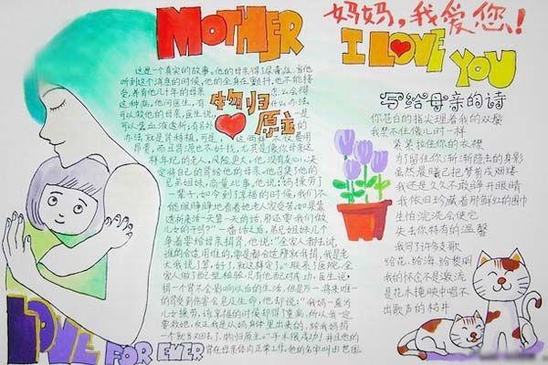 英语网为大家整理了关于母亲节的手抄报内容