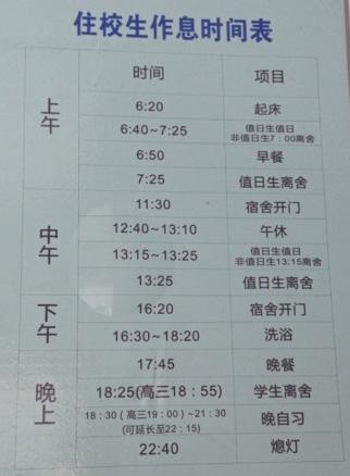 金陵中学高中环境及住校生作息时间东莞公寓粤华学费学校图片