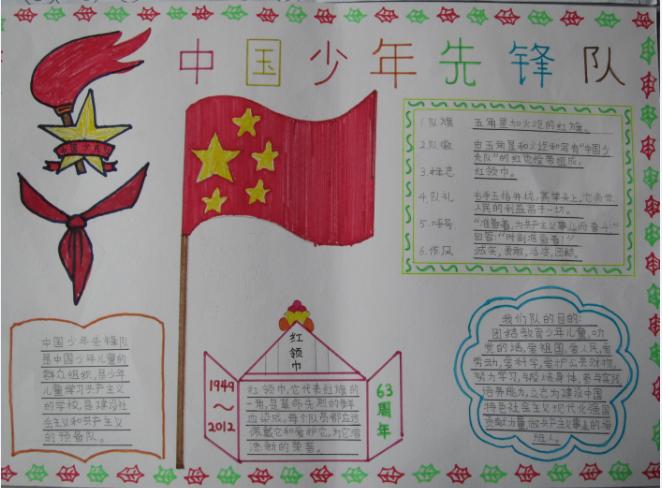 少先队手抄报图片:中国少年先锋队