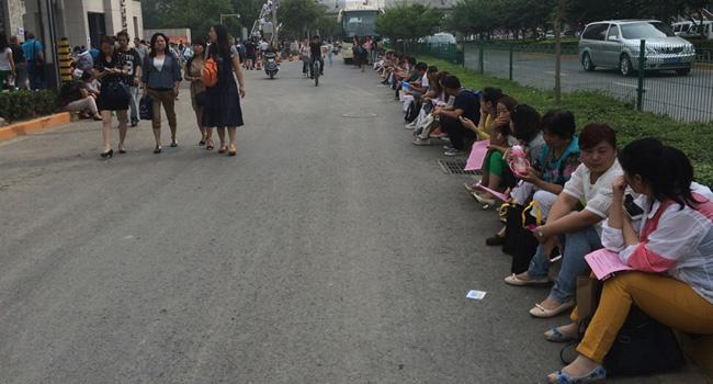 高新一中528记者团现场报道