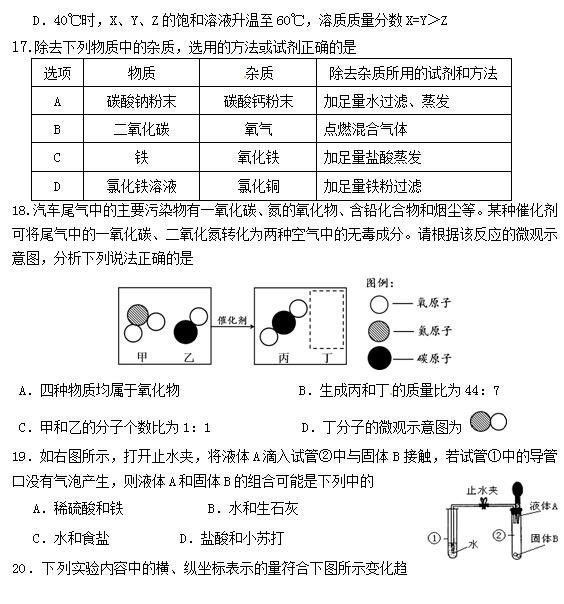 2015北京丰台区中考二模化学试题(4)