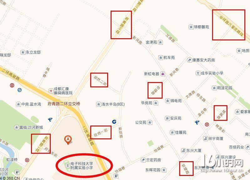 成都成华区名校学区房地图(2)