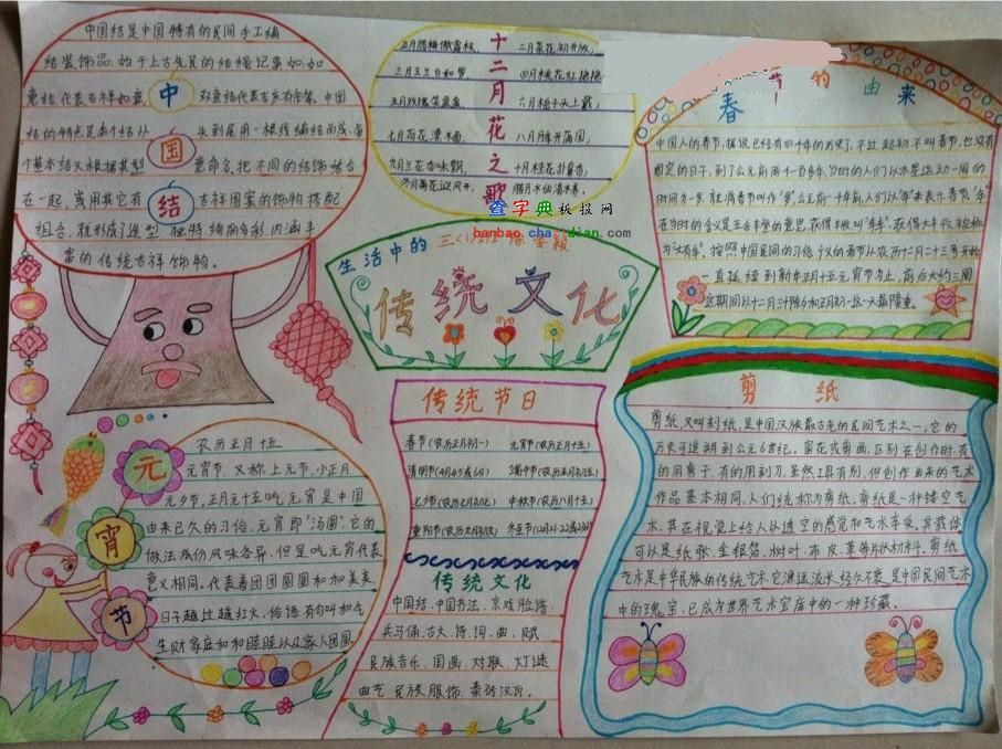 传统文化手抄报:传统节日