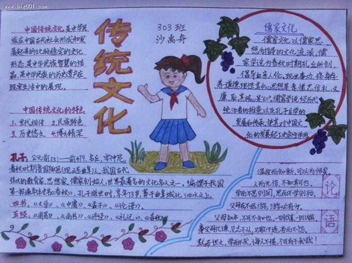 传统文化手抄报:弘扬传统文化