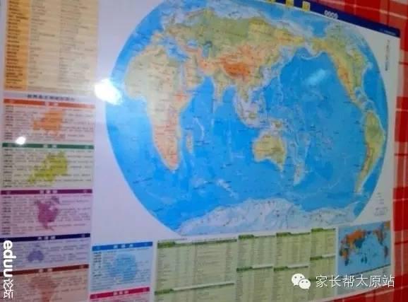 7,大家把中国地图,世界地图,世界地形图挂家里醒目位置