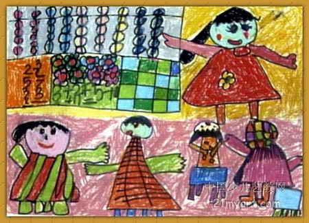 儿童画作品欣赏:教师节