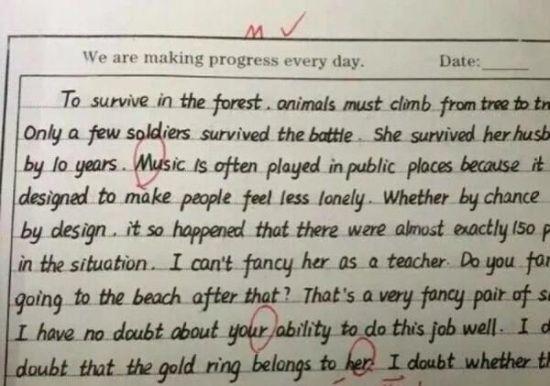 逆天:衡水中学学生手写作文堪比印刷体(图)