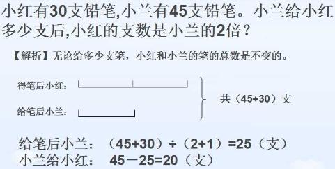 三年级奥数题及答案 和倍问题 4 2