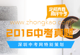 2017深圳中考百日冲刺真题训练汇总
