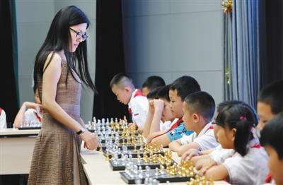北京市5区10校园率先v校园国际象棋进小学鸳鸯经开小学图片