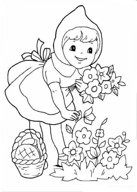 画可爱小姑娘简笔画图片大全