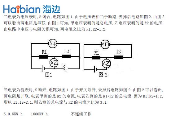 初中物理经典错误及分析-欧姆定律,电 功率部分(4)