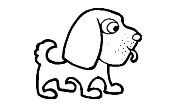 幼儿园狗简笔画图片大全